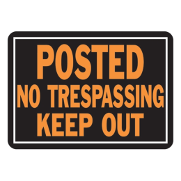Hy-Ko No Trespassing/Keep Out Sign 10 in x 14 in