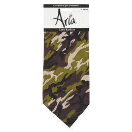 Aria Camo Bandana For Pets Green