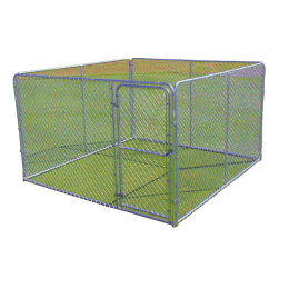 Stephens Pipe & Steel Silver Series Complete Kennel 10 ft x 10 ft x 6 ft