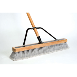 DQB Contractor Sweep Reinforced Stiff/Fine Push Broom 24 in