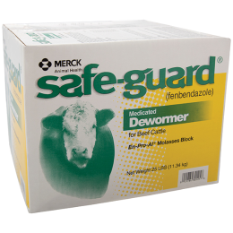 Safe-Guard Medicated Dewormer Block for Cattle 25 lb