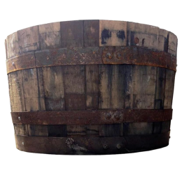 Straight Top Whiskey Barrel Planter