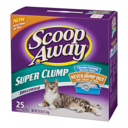 Scoop Away Super Clump Unscented Cat Litter 25 lb