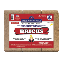 American Wood Fibers Wood Stove Fuel Bricks 20 lb