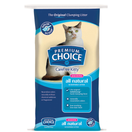 Premium Choice All Natural Unscented Scoopable Cat Litter 40 lb