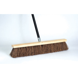 DQB Garage Sweep Stiff Palmyra Push Broom 24 in