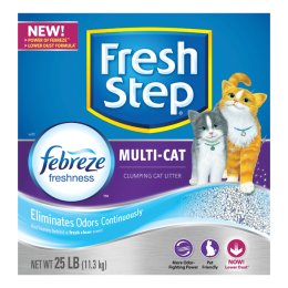 Fresh Step Multi-Cat Scented Litter 25 lb