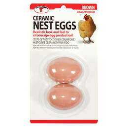 Little Giant Ceramic Nest Eggs Brown 2 Pack