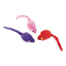 Coastal Fur Mice Cat Toy 3 Pack