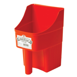 Little Giant Enclosed Feed Scoop Red 3 qt