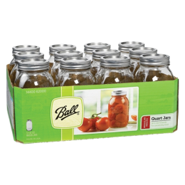 Ball Regular Mouth Mason Jars with Lids 1 qt 12 Pack