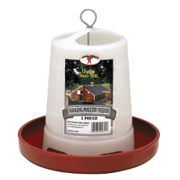 Little Giant Plastic Hanging Poultry Feeder 3 lb