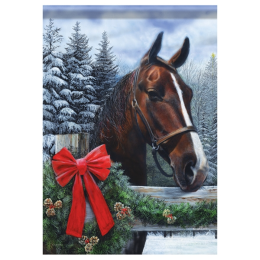 Holiday Horse Garden Flag 28 in x 40 in