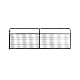 "Tarter 2"" x 4"" Wire Filled Gate Black 12 ft"