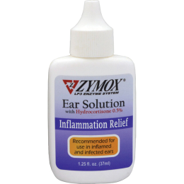 Zymox Ear Solution With 0.5% HC 1.25 oz