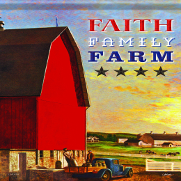 "Carson Faith, Family, Farm Garden Flag 13"" x 18"""