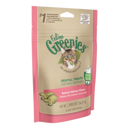 Feline Greenies Dental Treats Savory Salmon Flavor 2.5 oz