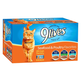 9 Lives Seafood & Poultry Cat Food 24 Pack