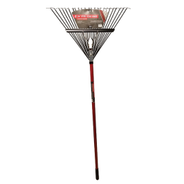 Southern States Steel Leaf Rake 24-Tine With Fiberglass Handle