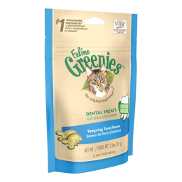 Feline Greenies Dental Treats Tempting Tuna Flavor 2.5 oz