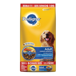 Pedigree Adult Complete Nutrition Dog Food 50 lb