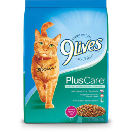 9 Lives Plus Care Cat Food Tuna & Egg Flavor 12 lb