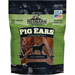 Redbarn Naturals Pig Ears Natural Dog Treats 10 Pack