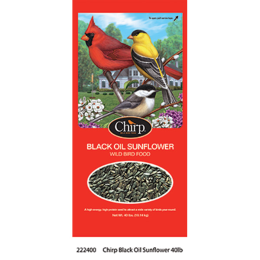 Chirp Black Oil Sunflower Wild Bird Food 40 lb