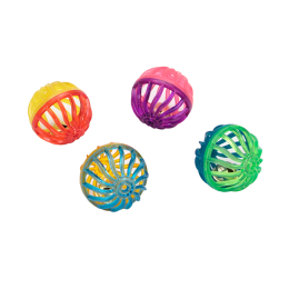 Coastal Lattice Balls Multi Color 4 Pack
