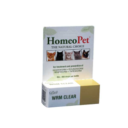 Homeopet The Natural Choice Feline Wrm Clear 450 Drops
