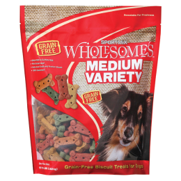 Sportmix Wholesomes Dog Biscuit Treats Medium Variety 4 lb