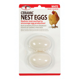 Little Giant Ceramic Nest Eggs White 2 Pack