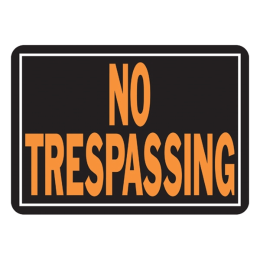 Hy-Ko No Trespassing Sign 10 in x 14 in