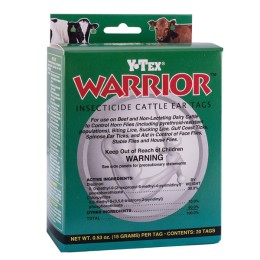 Warrior Insecticide Ear Tags 20 Pack