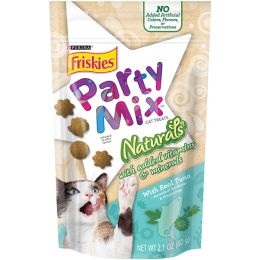 Purina Friskies Party Mix Naturals Tuna Cat Treats 2.1 oz