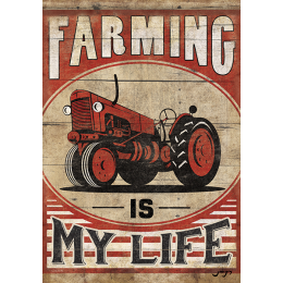 "Carson Farming Is My Life Garden Flag 13"" x 18"""