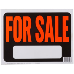 Hy-Ko For Sale Sign Plastic 9 in x 12 in