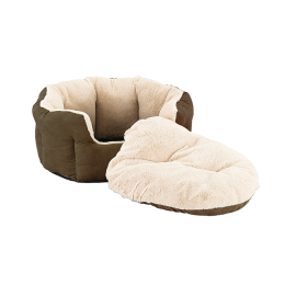 Sleep Zone Faux Suede Reversible Cushion Bed