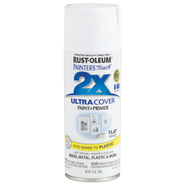 Rust-Oleum Painter 's Touch Ultra Cover 2X Gloss Spray Paint Flat White 12 oz