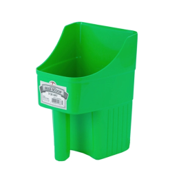 Little Giant Enclosed Feed Scoop Lime Green 3 qt